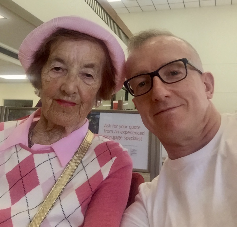 Might have been her first selfie 91 years old.