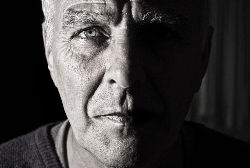 older man face