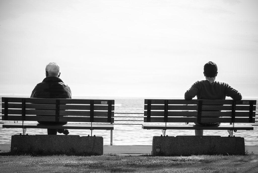 two man sitting