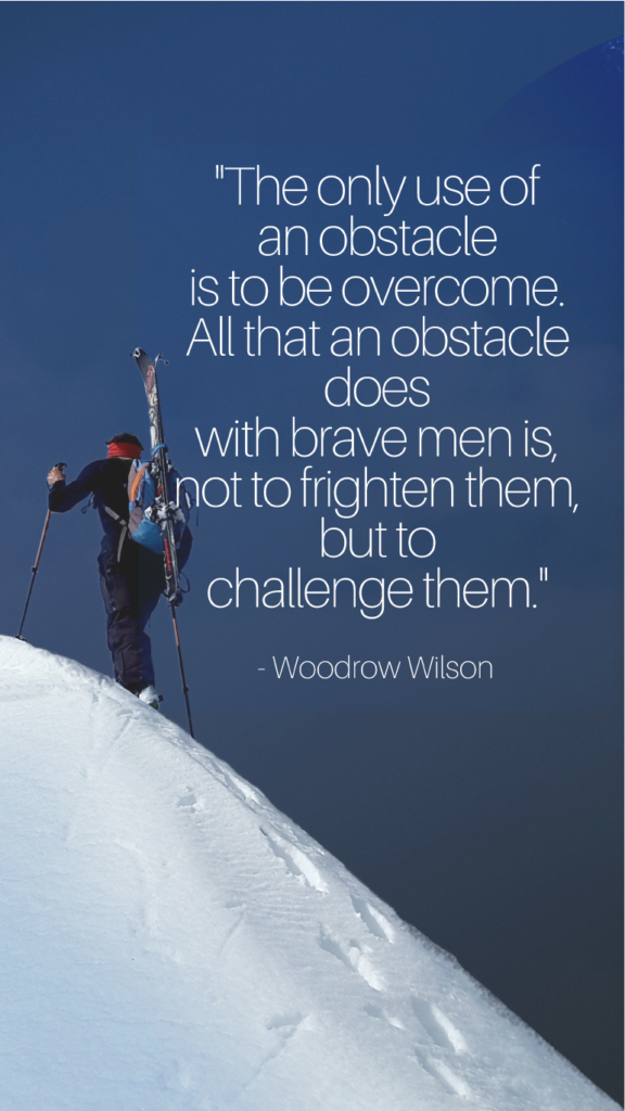 Woodrow Wilson resilience quotes