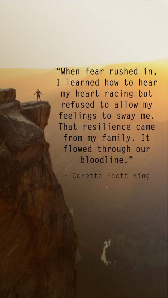 Coretta Scott King resilience quotes
