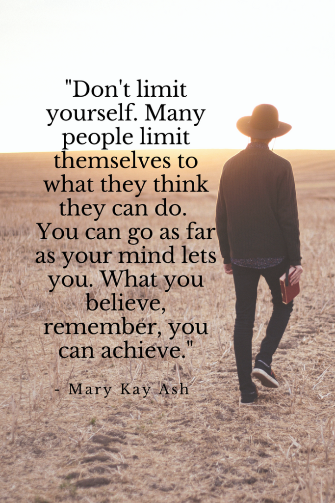 Mary Kay Ash Growth mindset quotes