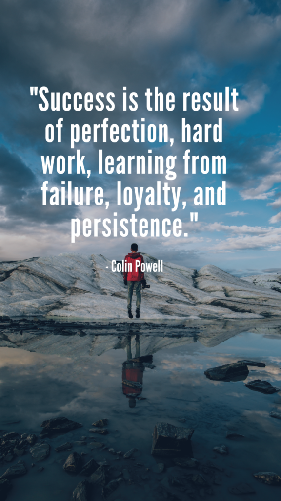 Colin Powell resilience quotes