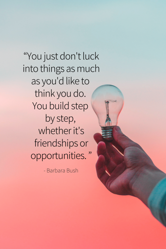 Barbara Bush Growth mindset quote#