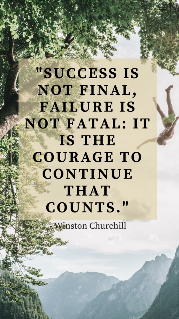 Winston Churchill resilience quote image