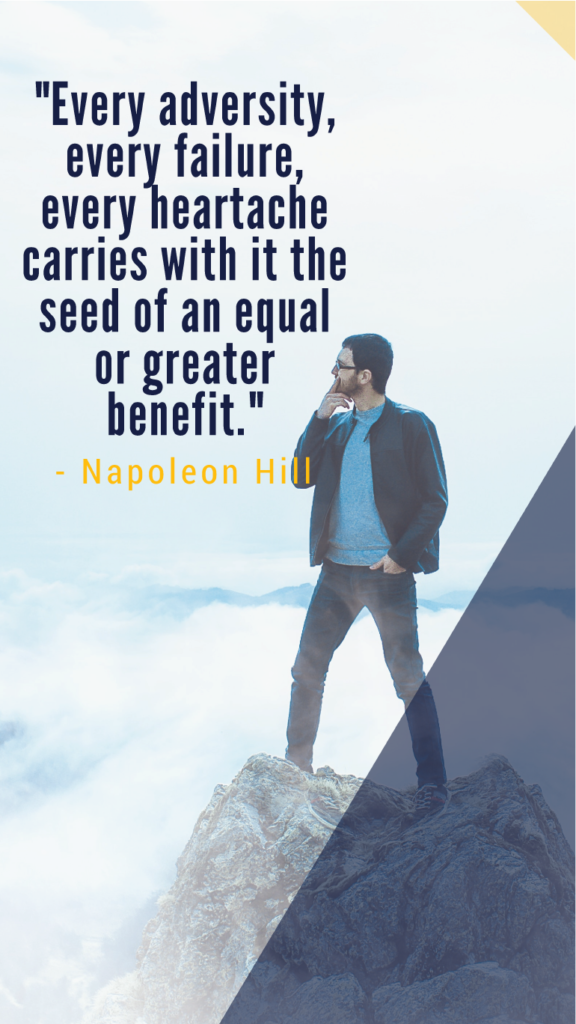 Napoleon Hill resilience quotes