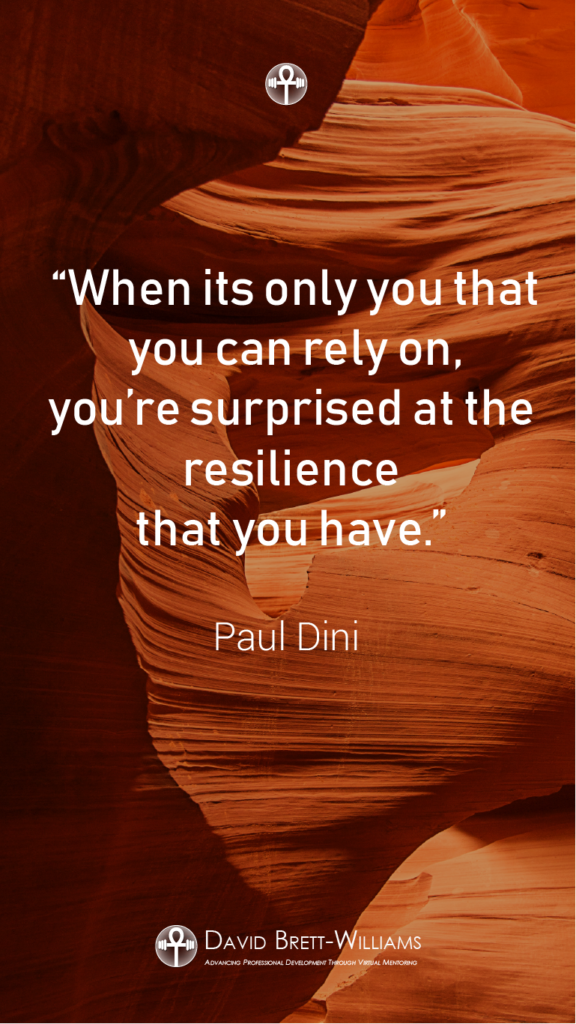 Paul Dini resilience quotes
