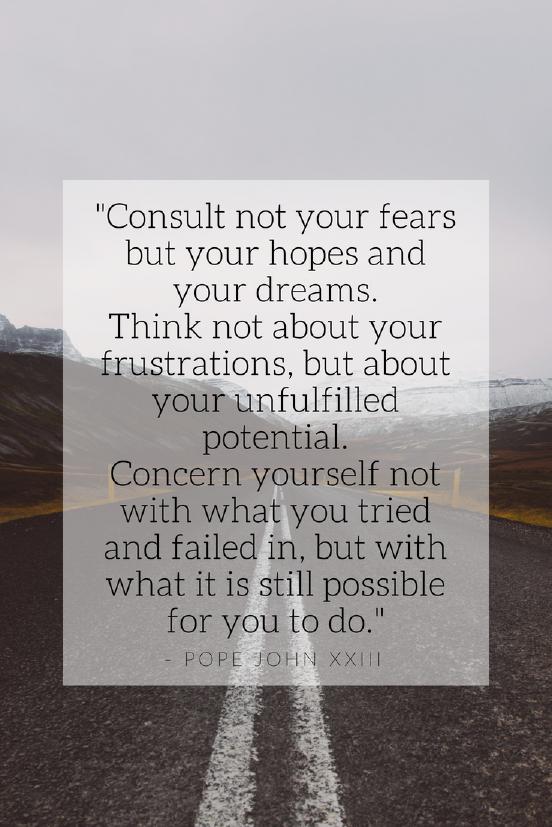 Pope John XXIII Growth mindset quotes