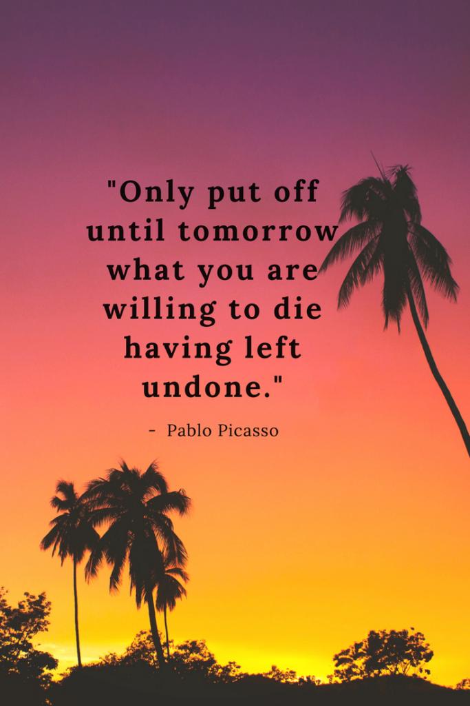 Pablo Picasso inspirational quotes