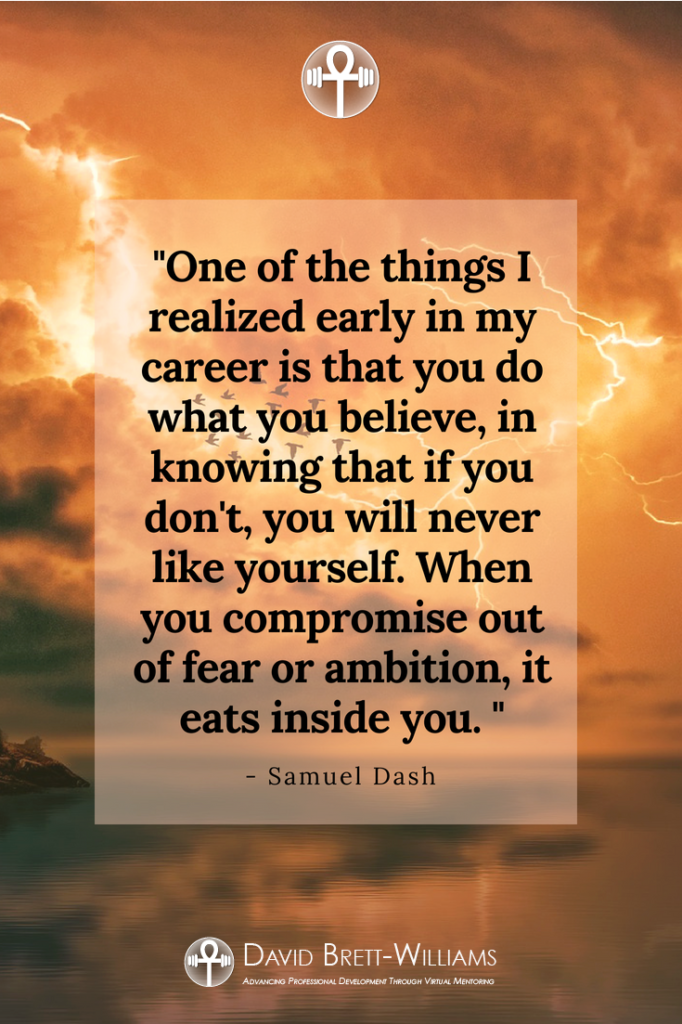 Samuel Dash inspirational quotes
