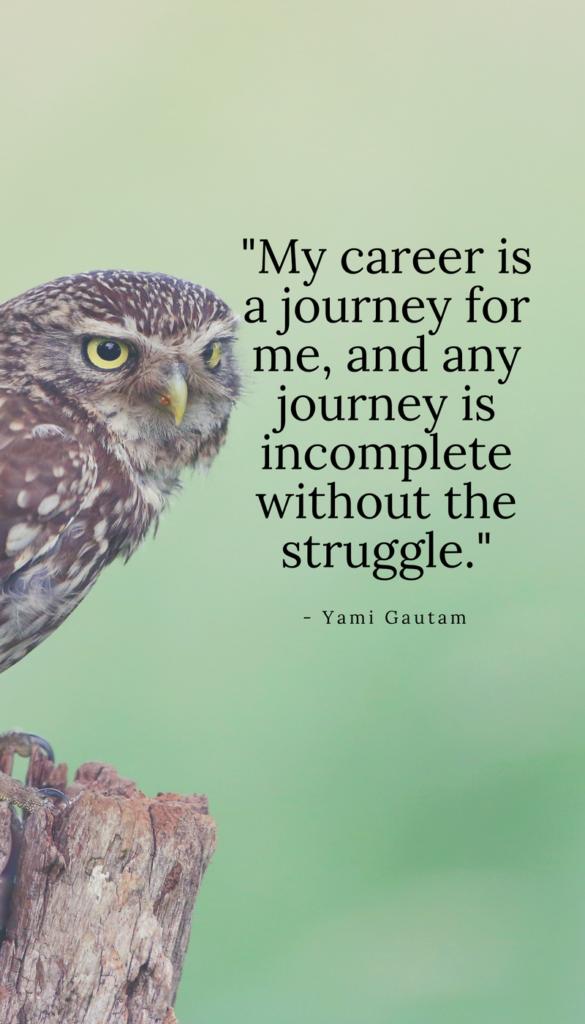Yami Gautam positive life quotes