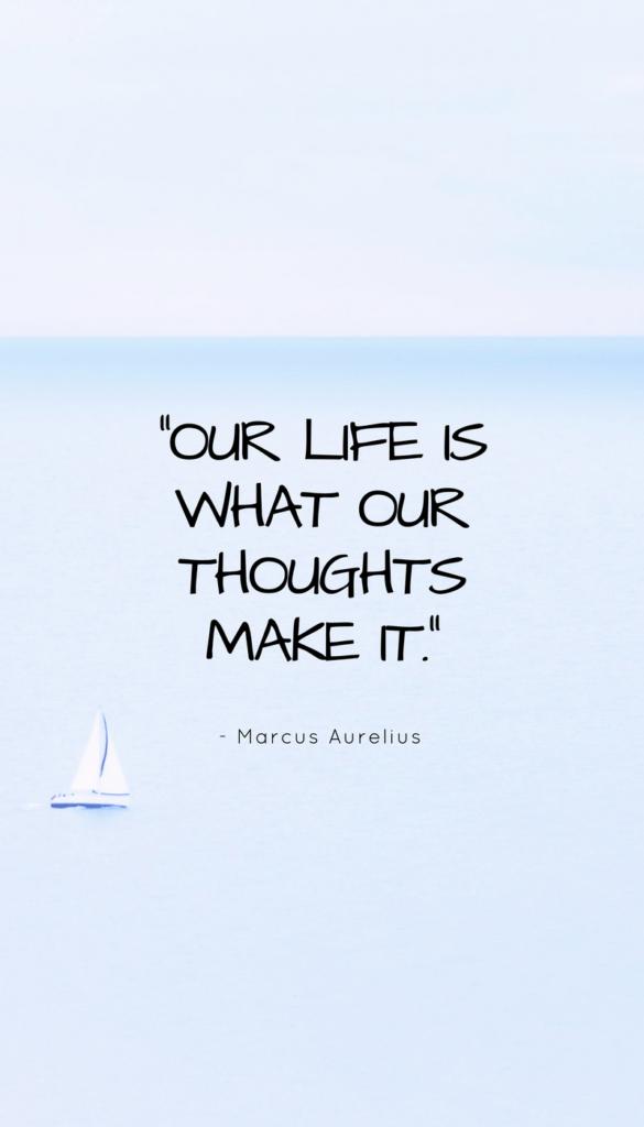 Marcus Aurelius positive life quote image