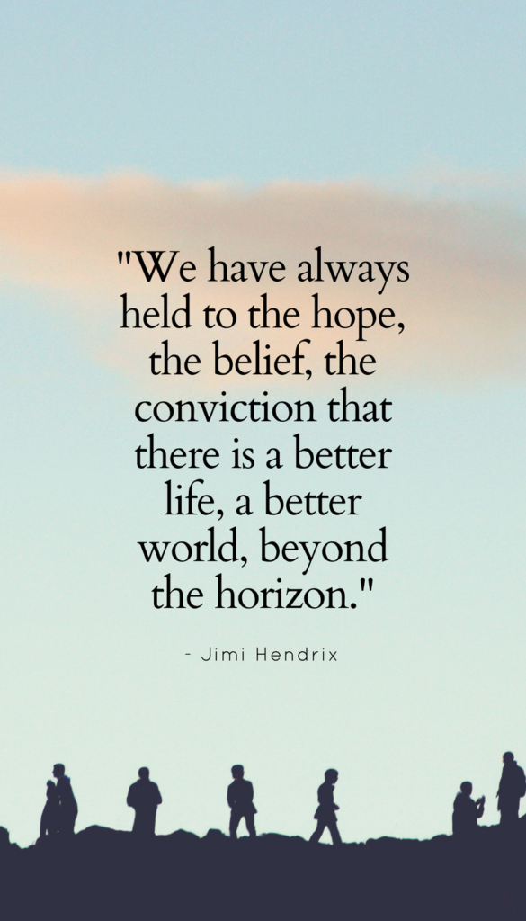 Jimi Hendrix positive life quote images
