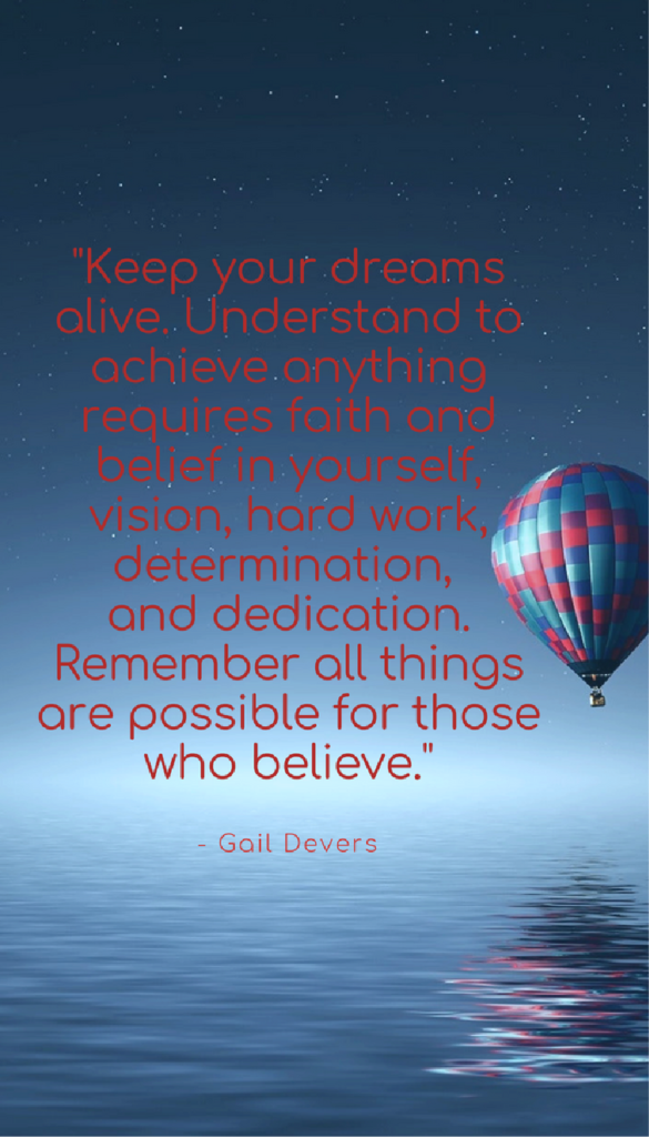 Gail Devers positive life quotes