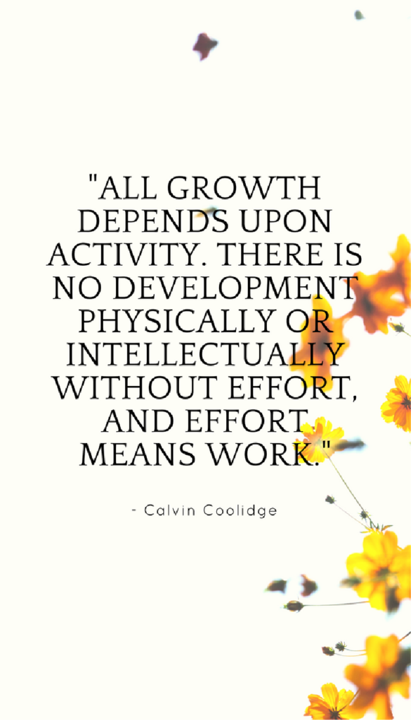 Calvin Coolidge positive life quotes