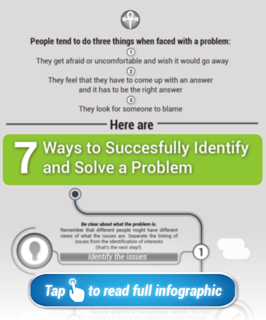 Resilience Infographic #1: 7 Easy Ways to Identify and Solve a Problem