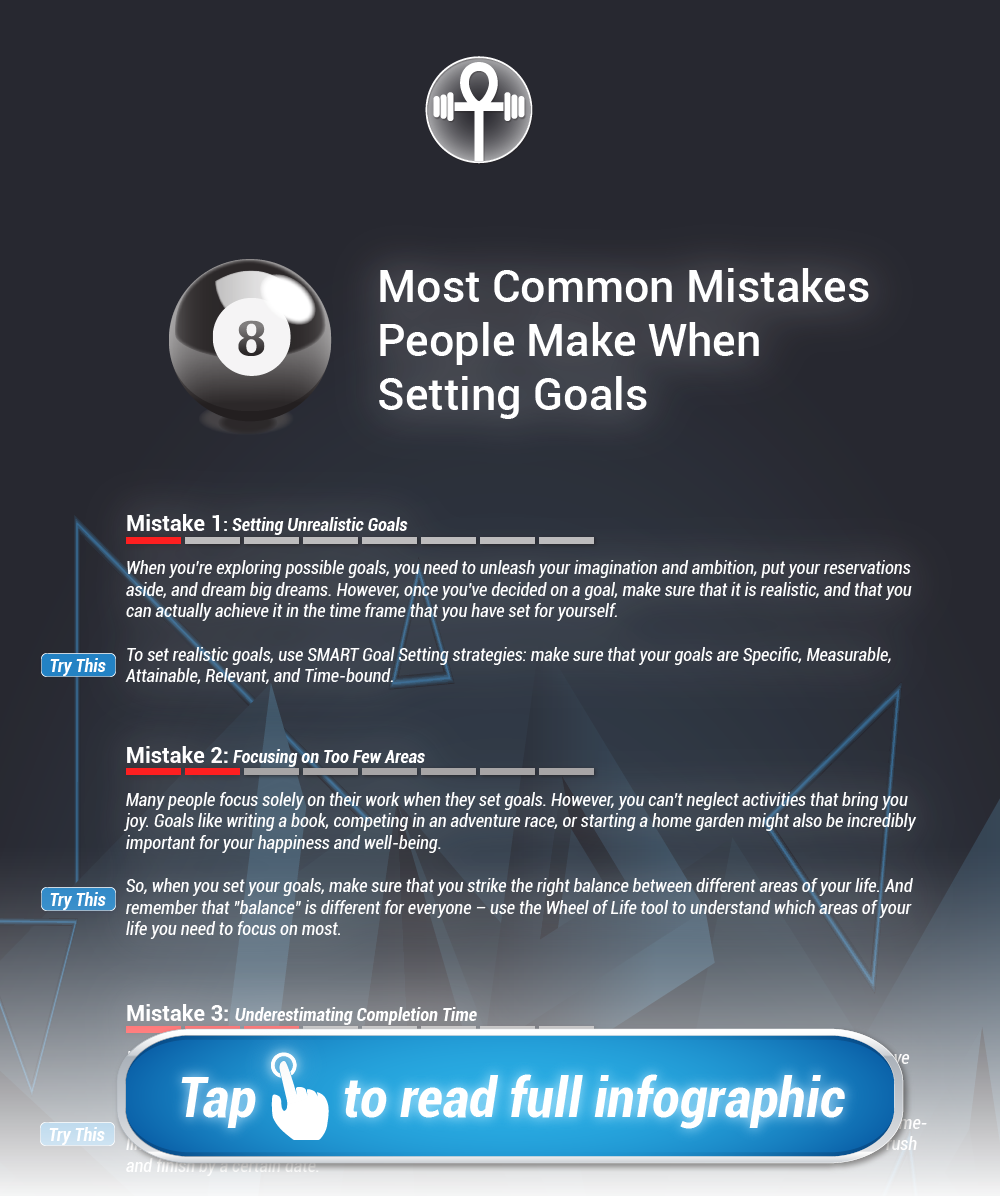 The Secrets of Resilience: 8 most common mistakes people make when setting personal goals